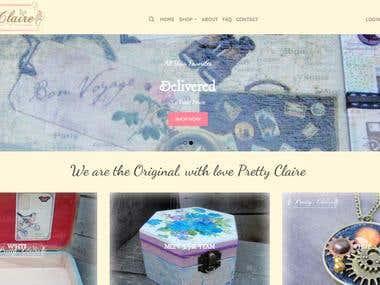 Handmade E-commerce Webiste