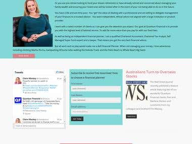 Blog based WordPress Website