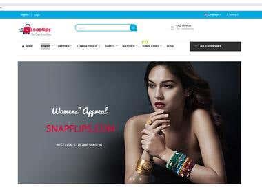 Snapflips - E-Commerce Site