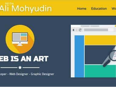 Designed Ali Mohyudin's Portfolio