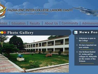 Fazaia College Website