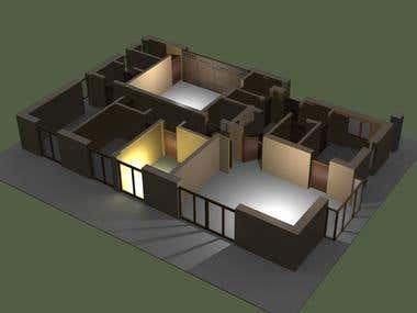 2D/ 3D Home/ flat design.