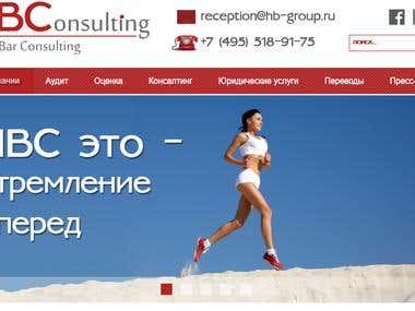 Website of consulting company