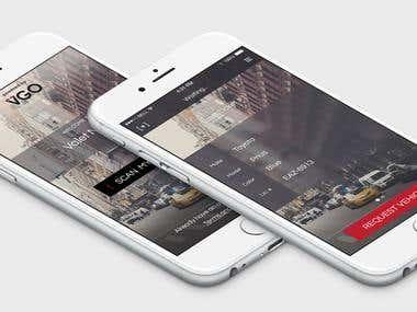 App UI/UX Design for VGO Scan Ticket Services