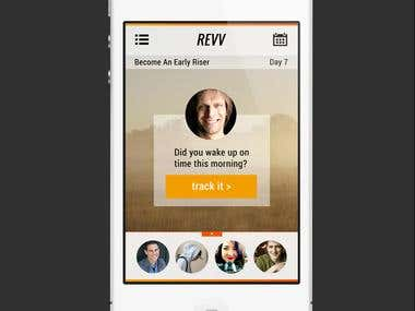 App Mock-up for REVV