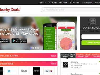 Nearby Deals | Best Online and local Discounts Web Portal