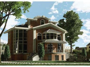 House exterior visualization