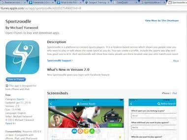 App development - Sportzoodle