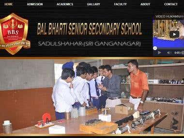 Bal bharti School Website