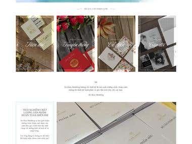An Wedding Organization and Invitation Site