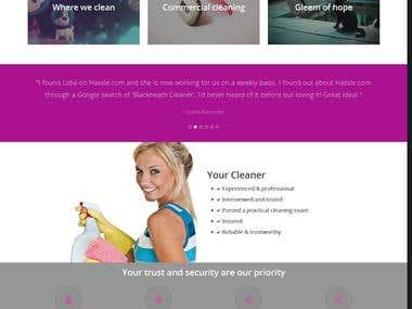 Wordpress - home cleaning service provider website