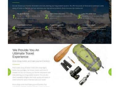 HTML template for travel agency