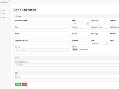 Publicaiton Record System
