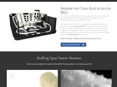 A Luxurious hot Tubs and Spas Website