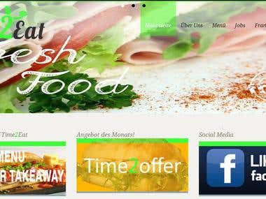 Time 2 Eat Complete Wordpress Website