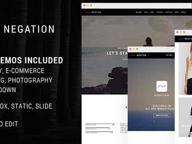 Negation - Agency | App | Shop | Photography Theme