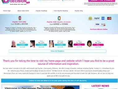 Psychics Decision Website