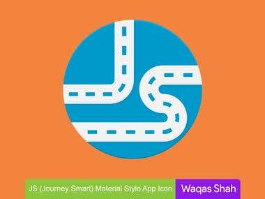 JS (Journey Smart) Material Style App Icon