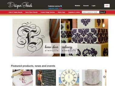 Designer Stencils - Online Shopping Portal