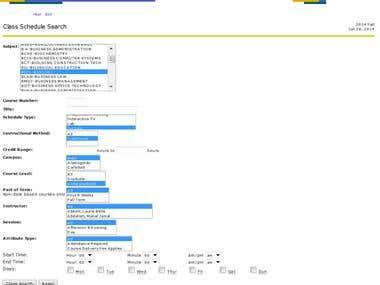 Data Extraction from School websites.