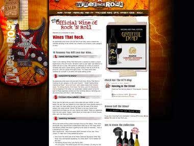 Website Design for Wines that Rock
