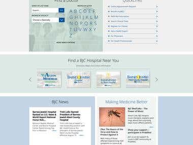 Web site design for BJC Healthcare