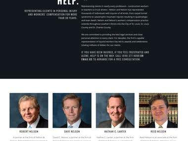 Nelson & Nelson Attorney at Law web site design