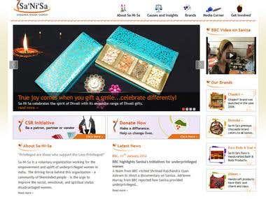 Sanisa.com Webpage