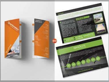 Bi-fold brochure & postcard