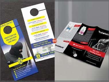 door hanger & tri-fold brochure