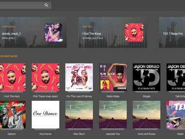 Ntertane Music  AngularJs Web App