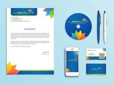 Corporate identity design - Ledlit
