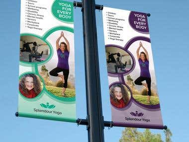Banner design - Splendour Yoga
