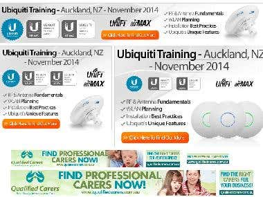Banner ads for ubinti Training