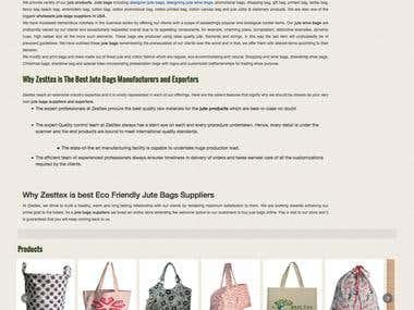 Jute Bag manufacturer and exporter