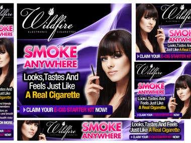 Banners for ecigarette Product