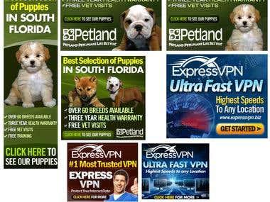 Banner ads for random sites