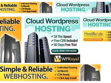 Banner set for hostbuddy.com