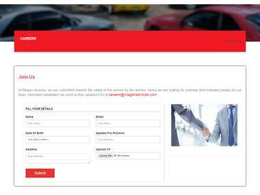 Design and Development of Website for Car Rental Company