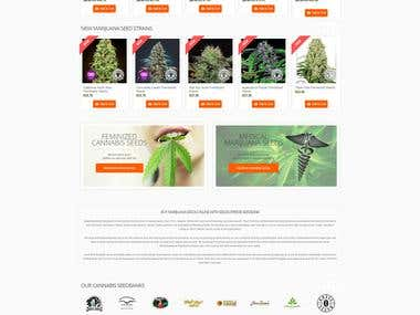 Web developmentfor SeedSupreme Seedbank
