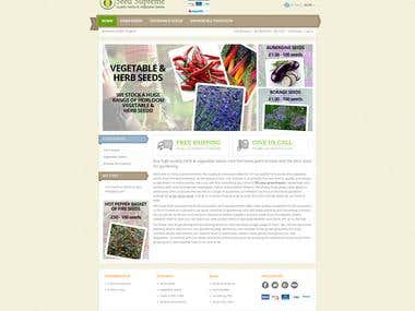 Web development for Seed Supreme   Quality Herbs