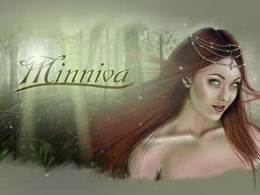 Ilustration for folk metal singer Minniva