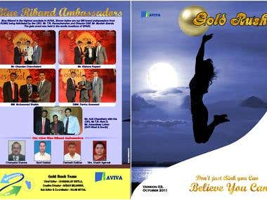 Brochure designed, circular design, photo editing