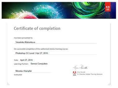 Adobe Photoshop CC - Certificate of completion