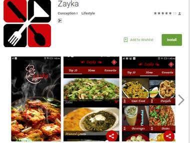 ZaykaFood App