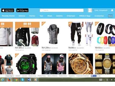 Online shoping store