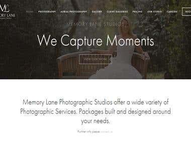 It's Website for Photography studio