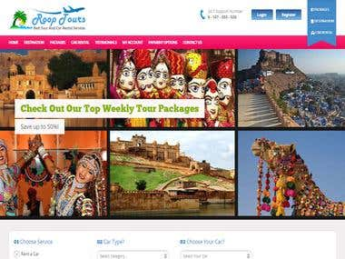 It's Website for Travel agency