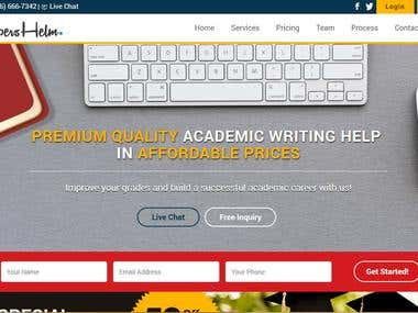 Developed Academic Website (www.papershelm.com)