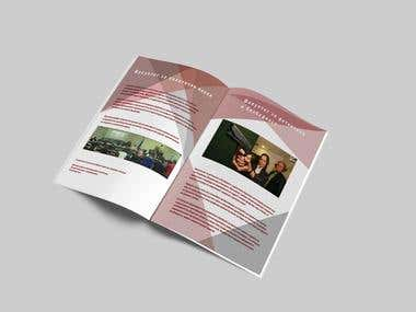 Brochure design for my university college